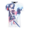 DC Comics Men's Wonder Woman Stencil T-Shirt - White: Image 1