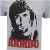 Rambo Men's Face T-Shirt - Grey Marl: Image 5