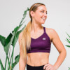 L - Core Sports Bra - Dark Berry: Image 3