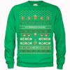 Nintendo Legend Of Zelda It's Dangerous To Go Alone Green Christmas Sweatshirt: Image 1