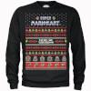 Nintendo Super Mario Mario Kart Here We Go Black Christmas Sweatshirt: Image 1
