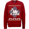 Disney Frozen Christmas Olaf And Snowmens Red Christmas Sweatshirt: Image 1