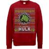 Marvel Comics The Incredible Hulk Red Christmas Sweatshirt: Image 1