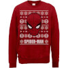 Marvel Comics The Amazing Spiderman Face Red Christmas Sweatshirt: Image 1