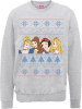 Disney Princess Christmas Princess Faces Grey Christmas Sweatshirt: Image 1