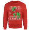 T-Rex Sleeves Sweatshirt - Red: Image 1