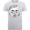 Marvel The Punisher Skull Badge Men's Grey T-Shirt: Image 1