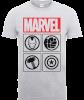 Marvel Avengers Assemble Icons T-Shirt - Grey: Image 1