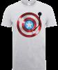 Marvel Avengers Assemble Captain America Record Shield T-Shirt - Grey: Image 1