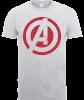 Marvel Avengers Assemble Captain America Logo T-Shirt - Grey: Image 1