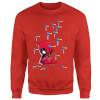 Marvel Deadpool Cartoon Knockout Sweatshirt - Red: Image 1
