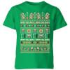 Nintendo Super Mario Happy Holidays The Bad Guys Kids' T-Shirt - Kelly Green: Image 1
