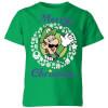 Nintendo Super Mario Luigi Merry Christmas Kids' T-Shirt - Kelly Green: Image 1