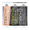 men-ü Matt Refresh and Moisturize Set - 15ml (3 Products)
