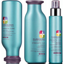 Pureology Strength Cure Trio Shampoing, Après-shampoing et Traitement longueurs Fabuleuses.