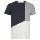 Threadbare Men's Haystings Cut & Sew T-Shirt - Navy Mix