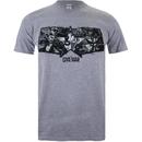 Marvel Men's Captain America Civil War Stars & Stripes T-Shirt - Sport Grey