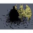 "Caped Crusader Batman Comic Book Inspired Art Print - 14"" x 11"""