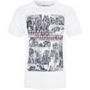 Transformers Men's Comic Strip T-Shirt - White