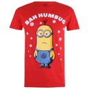 Minions Herren Bah Humbug T-Shirt - Rot