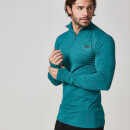 Myprotein 男子无缝 ¼ 拉链运动上衣 - 蓝绿色