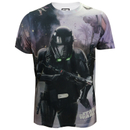 Star Wars Rogue One Men's Death Trooper Battle T-Shirt - White