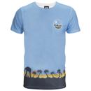 Star Wars Rogue One Men's Death Star Palm Tree T-Shirt - Blue