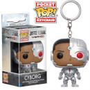 Justice League Cyborg Pop! Keychain