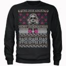 The Dude Abides 'Merry Dudemas Man' Männer Weihnachts Sweatshirt - Schwarz