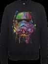 Sweat Homme Éclaboussures de Peinture Stormtrooper - Star Wars - Noir