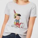 Camiseta Disney Pinocho - Mujer - Gris