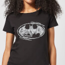Camiseta DC Comics Batman Logo Sketch - Mujer - Negro
