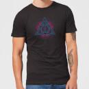 T-Shirt Homme Reliques de la Mort Néon - Harry Potter - Noir