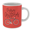 Bike Lights Christmas Mug
