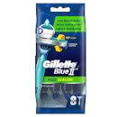 Gillette Blue II Plus Slalom Disposable Razors (8 Pack)
