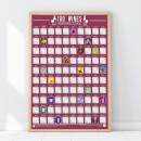 100 Wines Scratch Bucket Poster