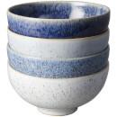 Denby Studio Blue 4 Piece Rice Bowl Set