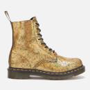 Dr. Martens Women's 1460 Pascal Iridescent Crackle 8-Eye Boots - Gold