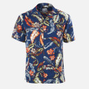 Superdry Men's Hawaiian Box Shirt - Indo Leaf Navy