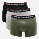 Polo Ralph Lauren Men's 3 Pack Trunk Boxer Shorts - Black/Andover Heather/Moss Green