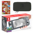 Nintendo Switch Lite (Grey) LAYTON'S MYSTERY JOURNEY: Katrielle and the Millionaires' Conspiracy - Deluxe Edition Pack