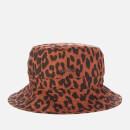 Ganni Women's Leopard Print Cotton Poplin Bucket Hat - Toffee