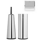 Brabantia Toilet Accessories - Brilliant Steel (Set of 3)