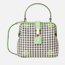 Kate Spade New York Women's Remedy Gingham Small Top Handle Bag - Green Multi