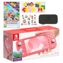Nintendo Switch Lite (Coral) Paper Mario: The Origami King Pack