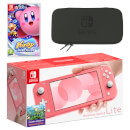 Nintendo Switch Lite (Coral) Kirby Star Allies Pack