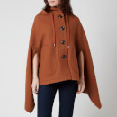 See by Chloe Women's Hooded Cape Jacket - Pottery Brown