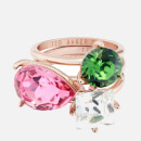 Ted Baker Women's Caisa: Crystal Candy Stacking Ring - Rose Gold/Multi