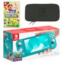 Nintendo Switch Lite (Turquoise) New Super Mario Bros. U Deluxe Pack