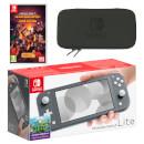 Nintendo Switch Lite (Grey) Minecraft Dungeons - Hero Edition Pack